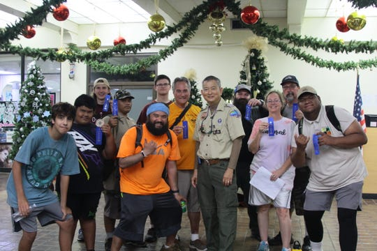 The Chamorro District Boy Scouts of America successfully completed their annual five mile Scavenger Hunt with this year highlighting the Historic Hagatna Village on December 29, 2018. The hunt was open to the public and six teams competed using boy scout and cub scout skills with orienteering, compass, GPS, maps, teamwork and ingenuity to find 212 clue sites in Historic Hagatna. Clue sites introduced historic and pre-historic locations; medicinal, native and toxic plant identification; scouting skills; and fun activities such as Christmas caroling and animal/insect photography. The winning team was Boy Scout Troop 007 Spartans sponsored by the LDS Church.