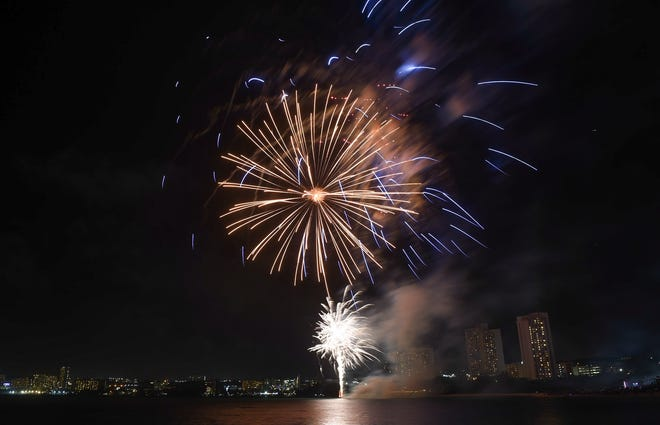 Fireworks light up Tumon Bay to welcome 2019
