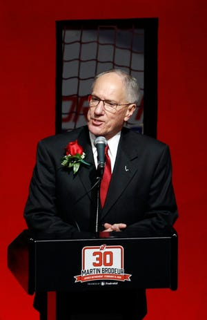 """Michael """"Doc"""" Emrick, American network television play-by-play sportscaster and commentator."""