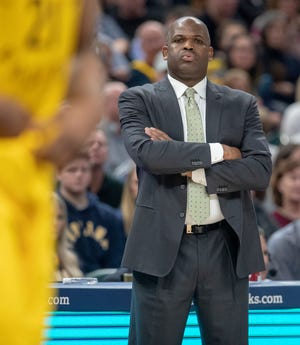 Nate McMillan, Head Coach of the Pacers, at Bankers Life Fieldhouse, Indianapolis, Tuesday, Dec. 31, 2018. Indiana beat Atlanta 116-108.