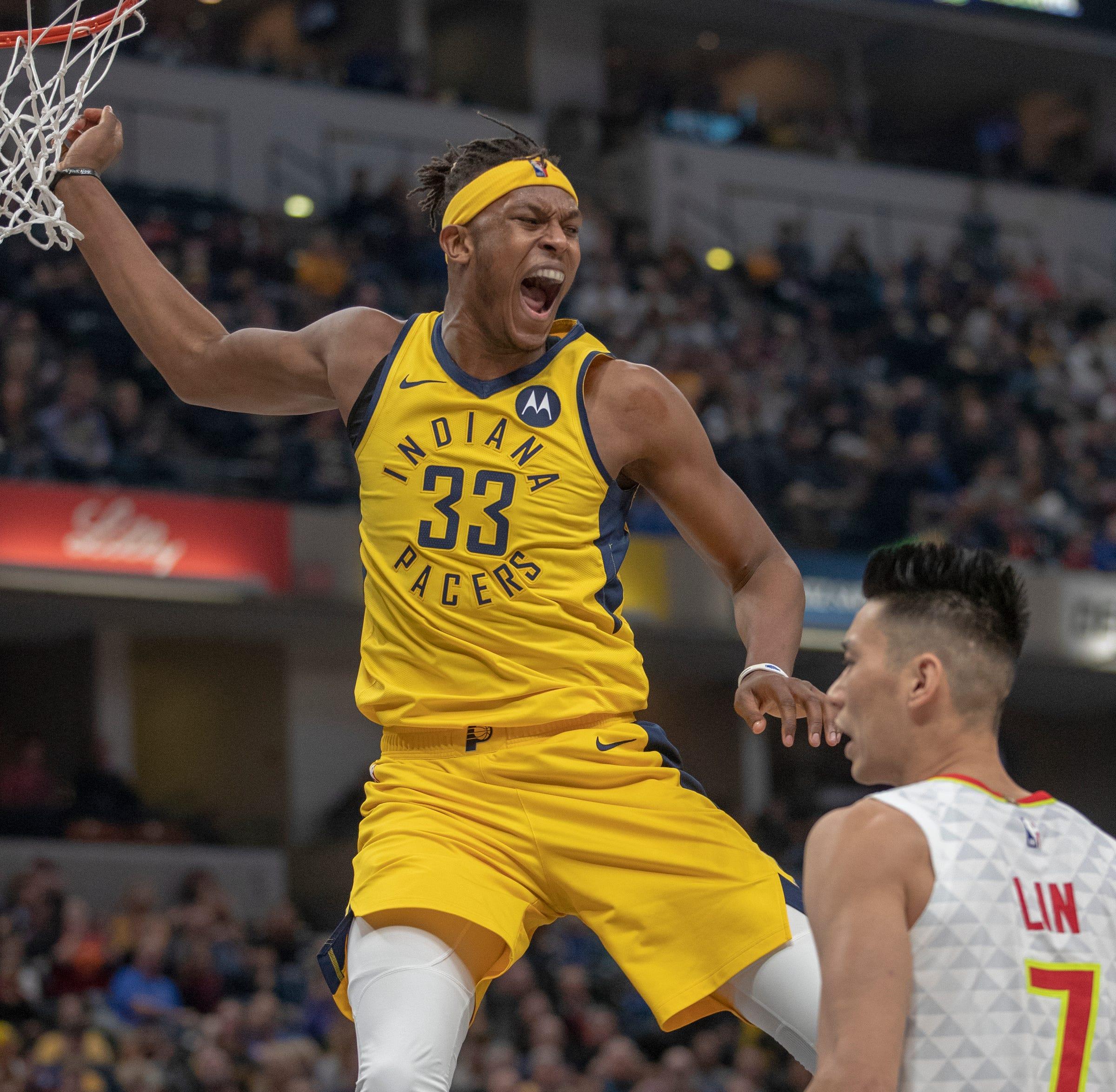 966d39c1752f Indiana Pacers beat Atlanta Hawks again but lose center Myles Turner