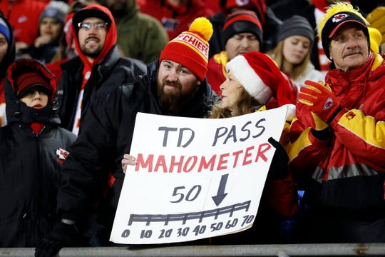 A Colts win would take them to Kansas City, where they would face quarterback Patrick Mahomes, who has 50 touchdown passes this season.
