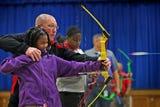 Lew Wallace Elementary School 107 sixth graders shoot in National Archery in Schools Program (NASP) class.