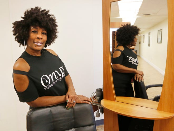 Owner Debra Wilburn of Onyx Styling & Braiding Salon Monday, December 31, 2018, at  20 N. Earl Avenue in Lafayette. Wilburn is retiring after running Onyx for several years.