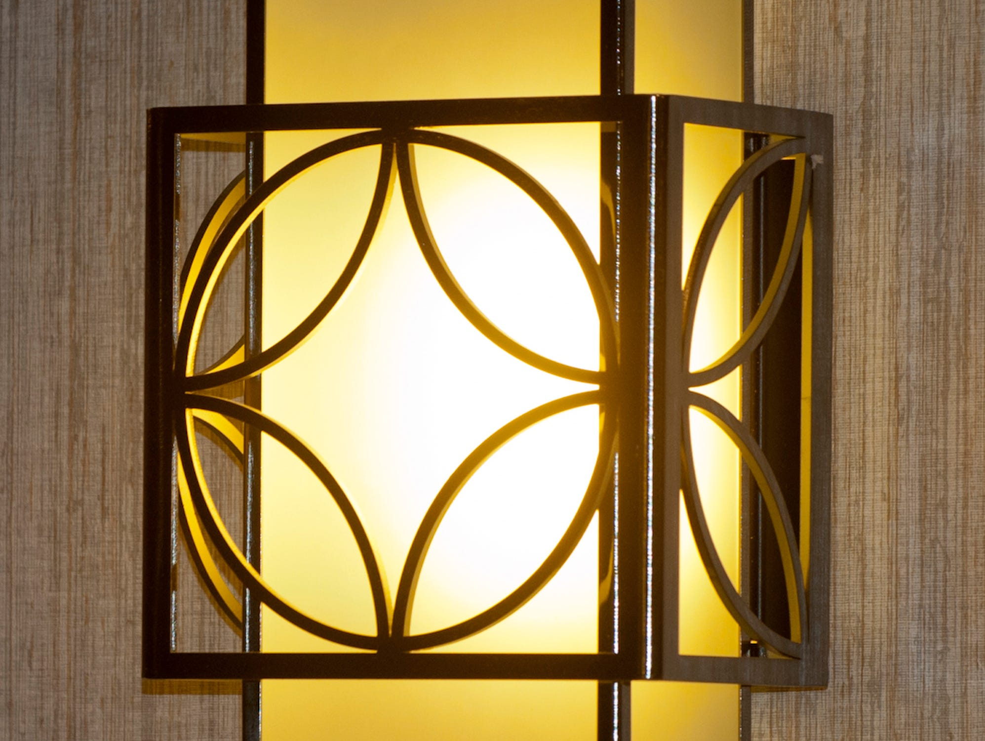 Wall sconces help to illuminate the cabin interiors.11 December 2018
