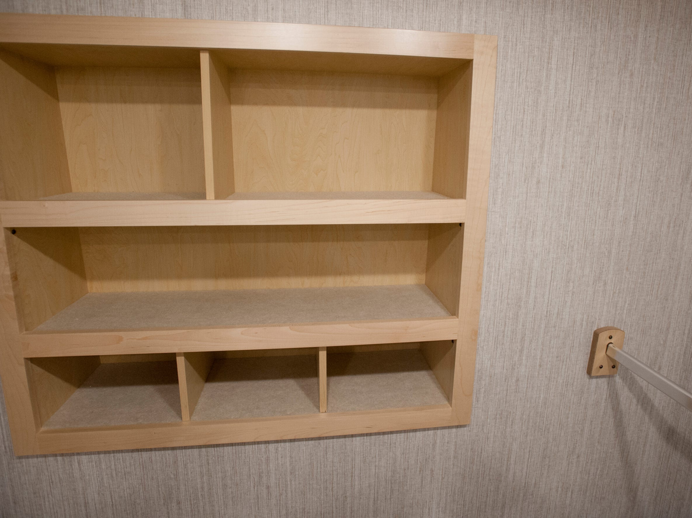 Storage inside the master suite's closet.11 December 2018