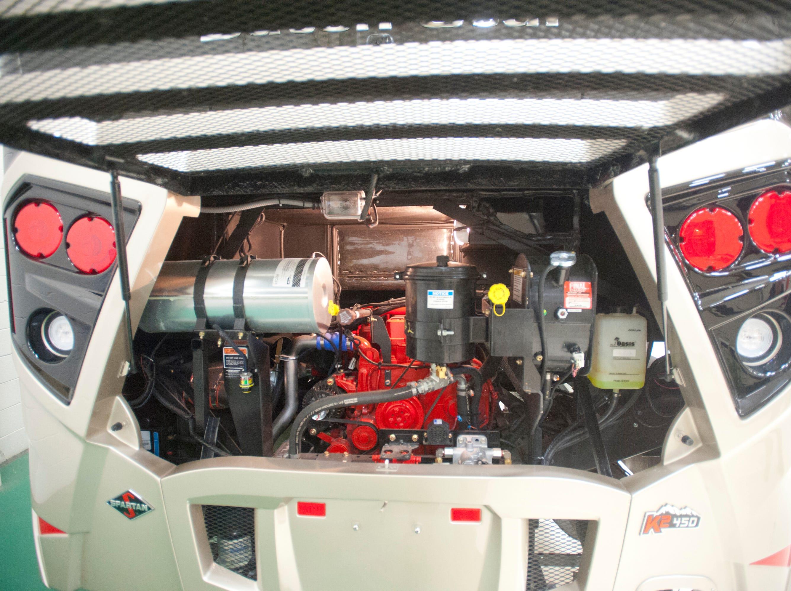 The Dutch Star features a 6.7 liter 450 horsepower Cummins diesel engine. 11 December 2018