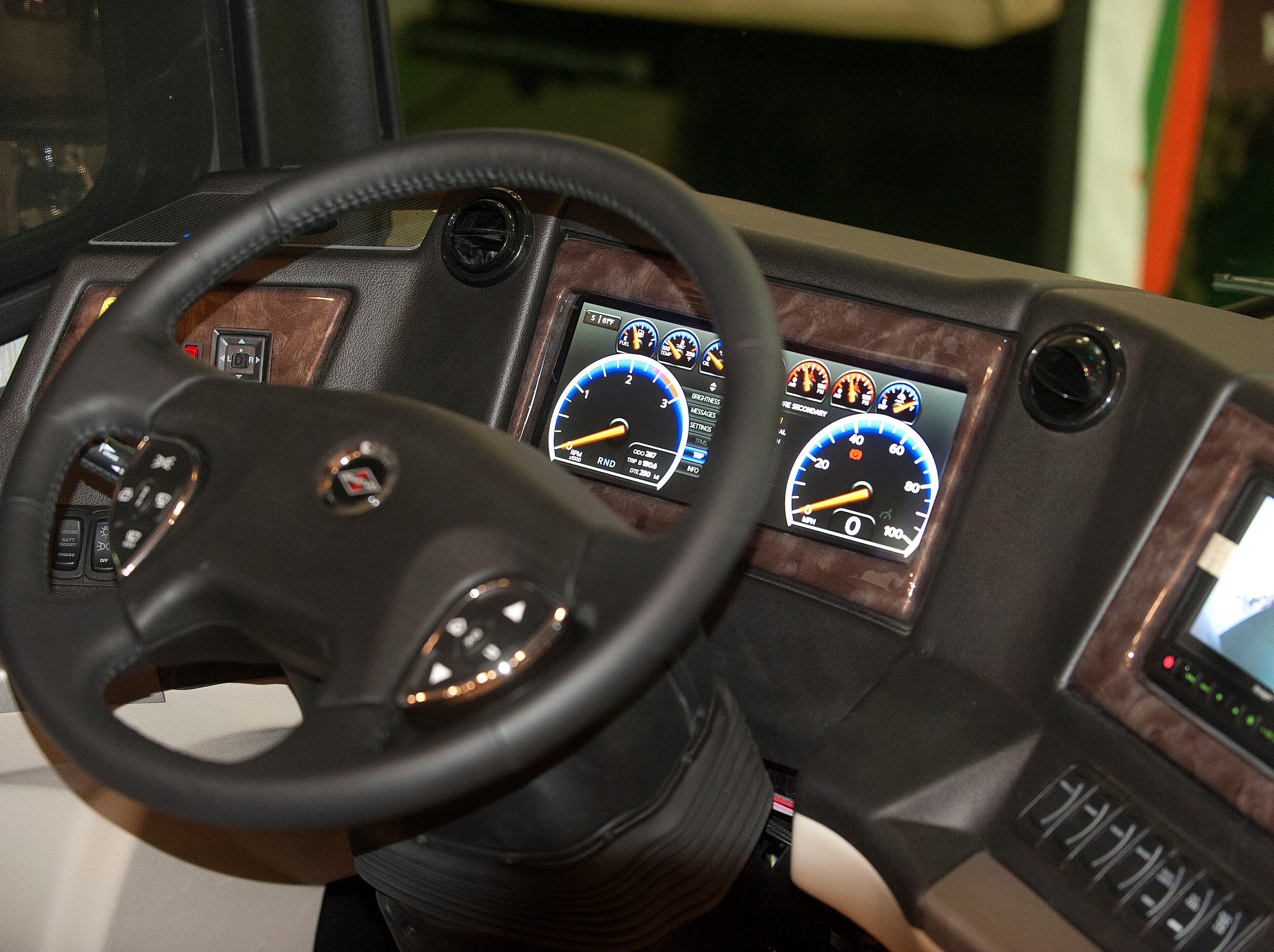 The Dutch Star has a digital dashboard to make viewing the controls easier.11 December 2018