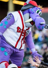 Big Lug is the Lansing Lugnuts mascot who loves to dance and make children smile. The minor league baseball team's home opener is April 6 at Cooley Law School Stadium.