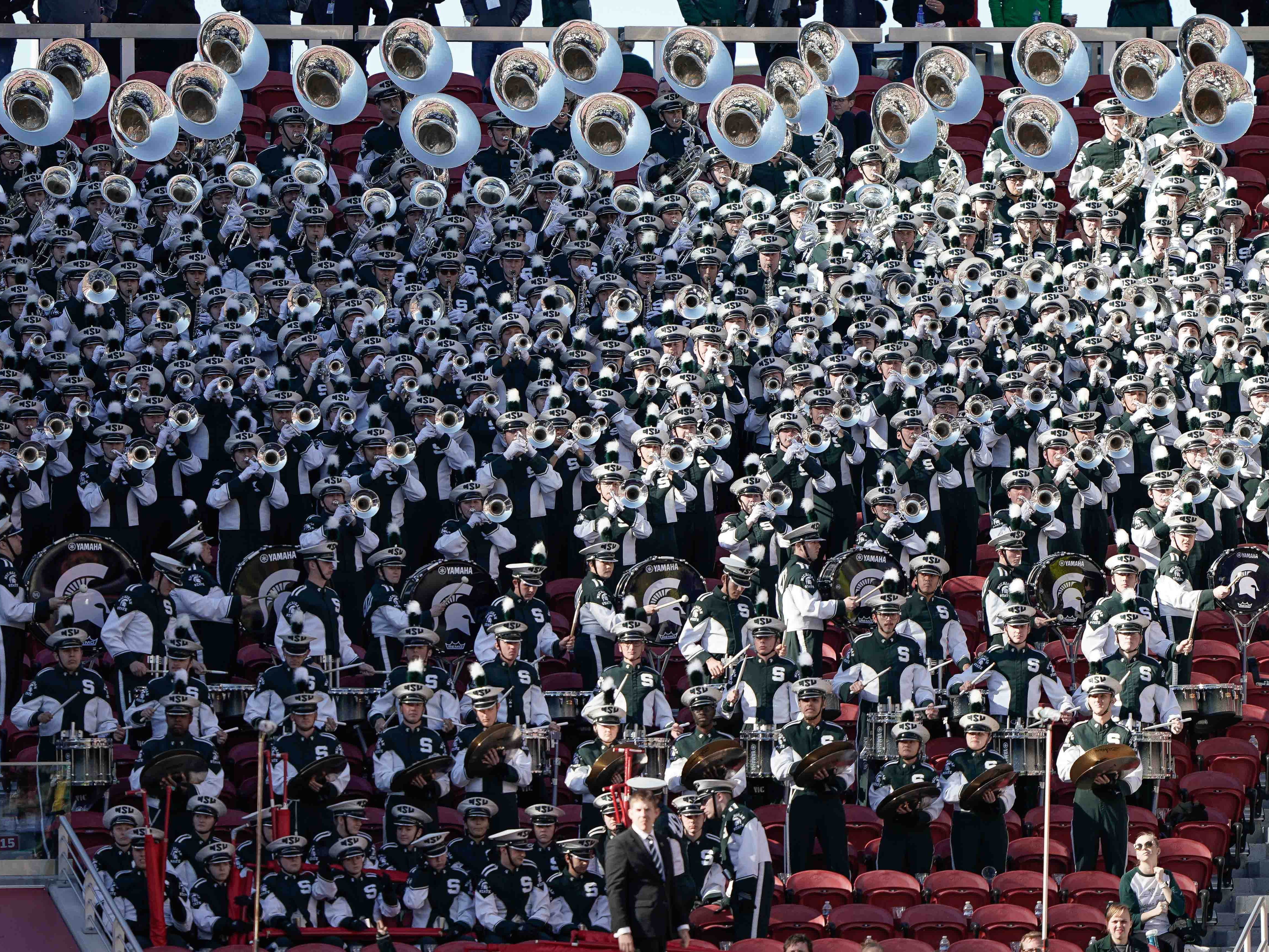 General view of the Michigan State Spartans band in the game against the Oregon Ducks during the second quarter at Levi's Stadium.