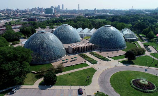 The Mitchell Park Domes in August.