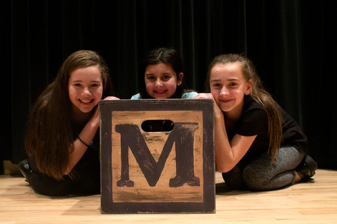 """Reese Bell, Taylor Arnstein and Marina Evans share the title role in First Stage's new production of the musical """"Matilda."""""""