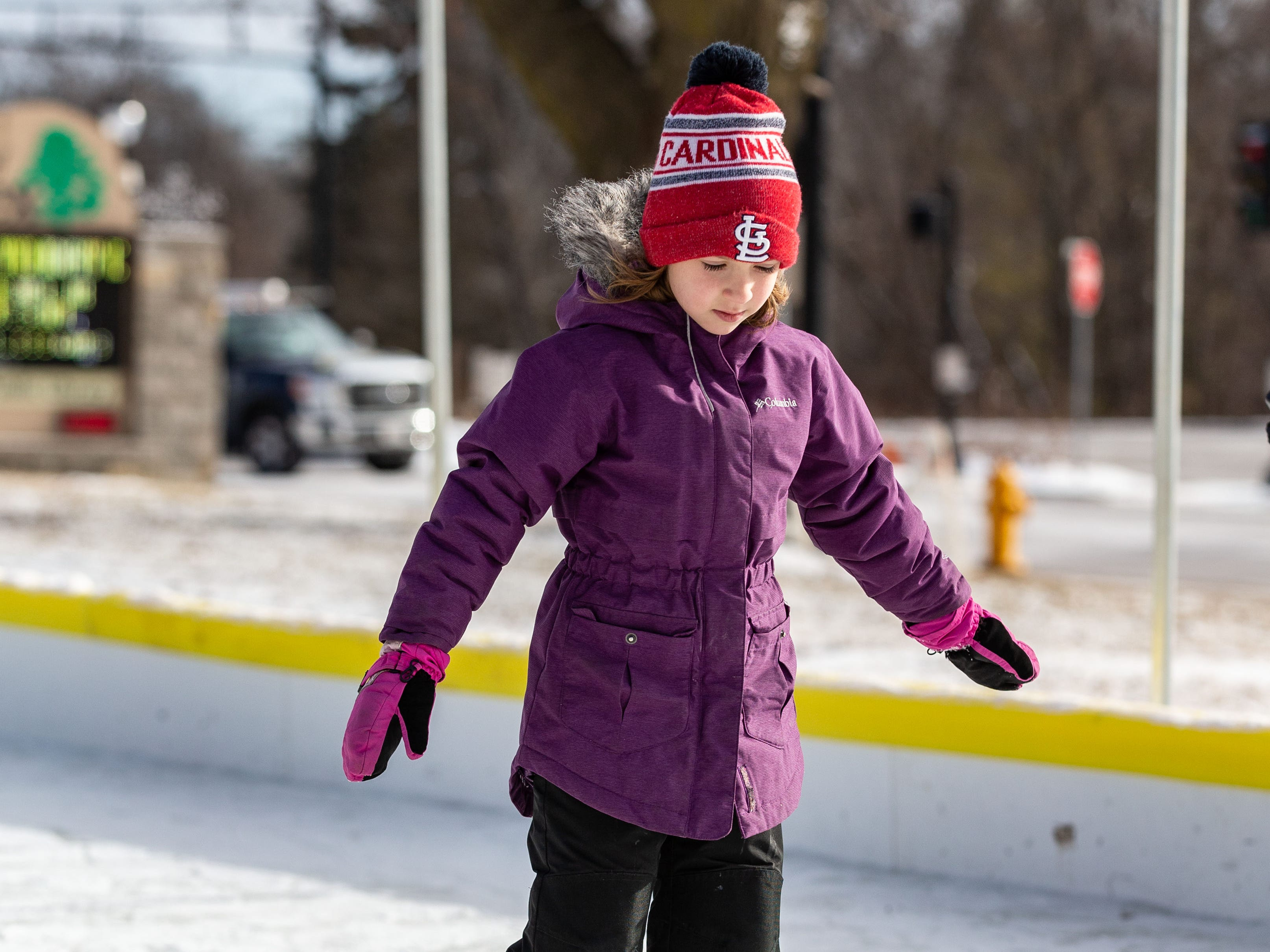Six-year-old Emma Kulibert of Sussex glides around the Sussex Civic Center ice rink on Sunday, Dec. 30, 2018. The rink is open seven days a week as weather permits. For hours and info visit villagesussex.org.