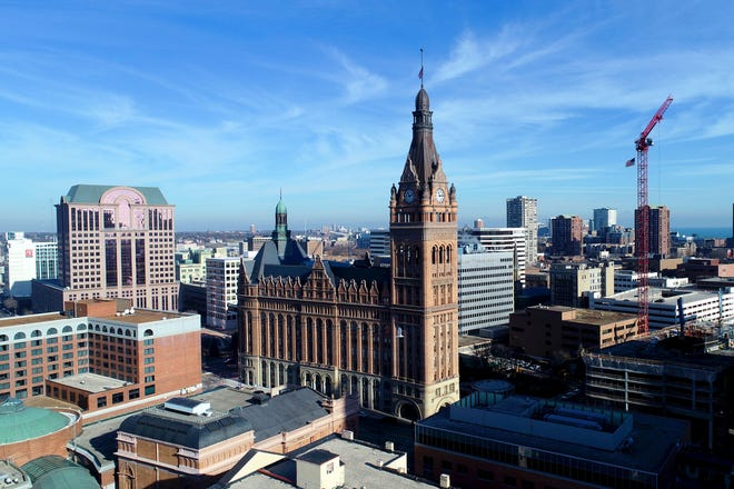The Democratic National Committee selected Milwaukee on Monday, March 11, 2019, to host the 2020 Democratic convention. Here, Milwaukee City Hall.