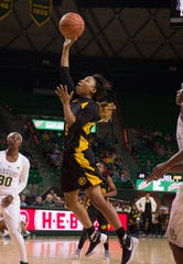 Grambling State Lady Tigers guard Shakyla Hill led her team in scoring with 16 points on Sunday.