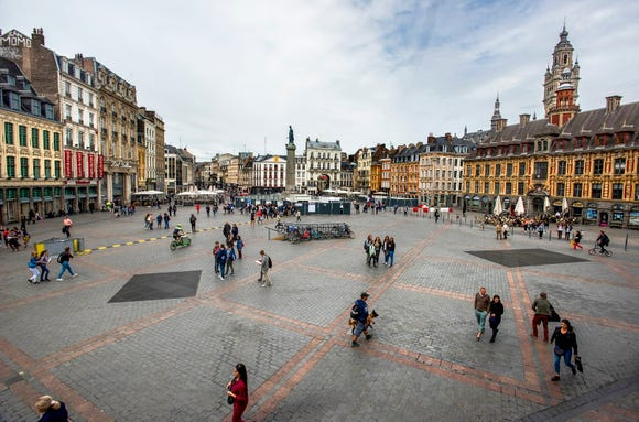 Lille's Grand Place is inspiring.