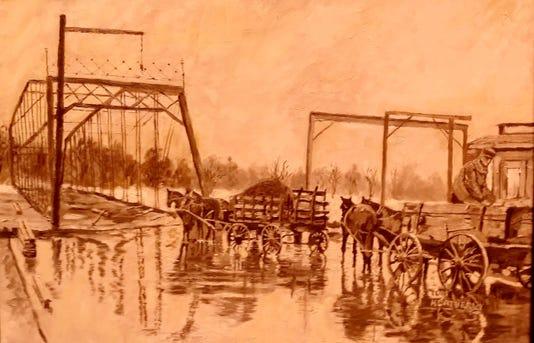 High Street Bridge Flood Heatherly