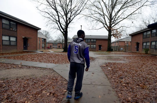 "Devon Starling grew up with his father at the Cumberland View public housing project in North Nashville. It is nicknamed Dodge City because ""you gotta dodge them bullets,"" Devon says."
