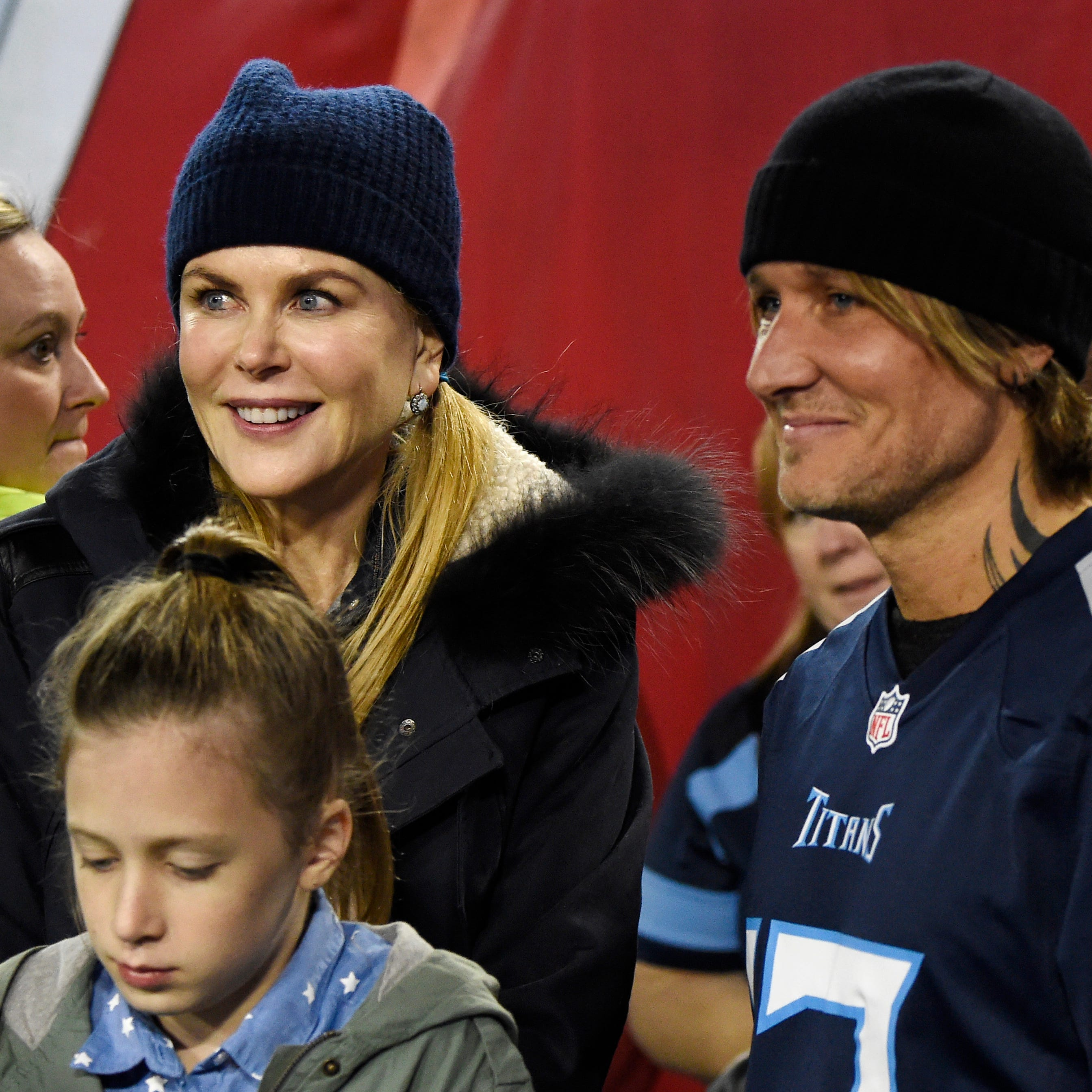 Keith Urban, Nicole Kidman at Titans-Colts game