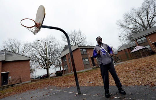 Devon Starling played basketball and football in a field near where he grew up with his father at the Cumberland View public housing project in North Nashville.