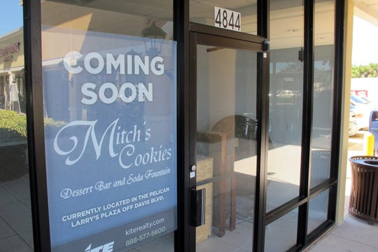 Mitch's Cookies Dessert Bar & Soda Fountain will open in February 2019 in the Publix-anchored Kings Lake Square on Davis Boulevard in East Naples.