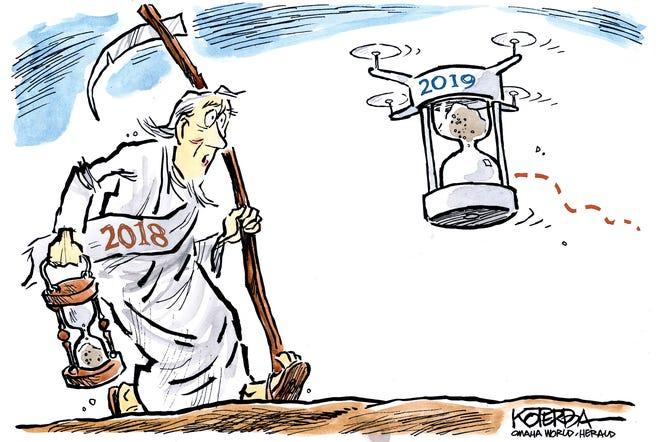 Father Time cartoon