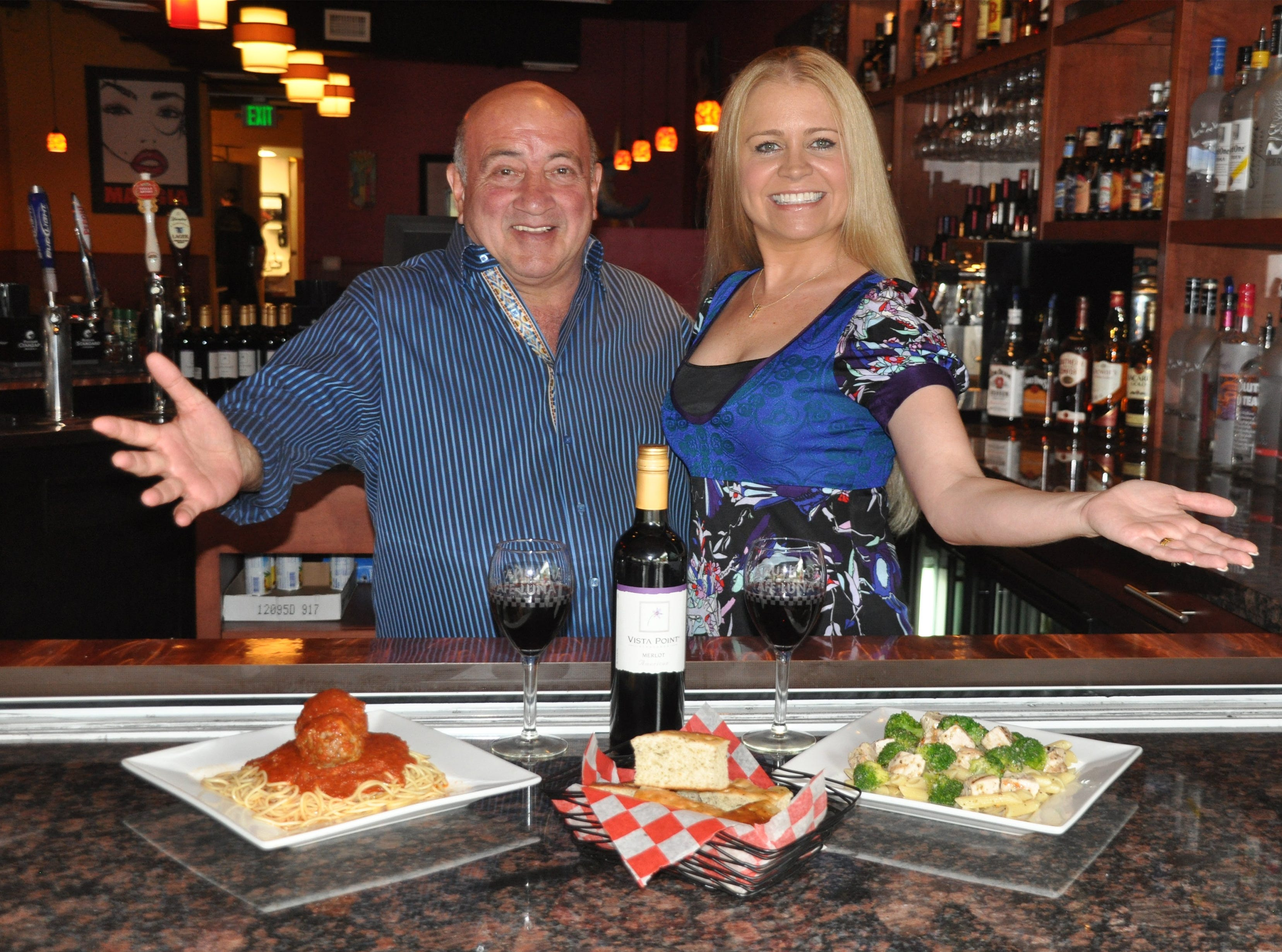 Co-owners Ed Barsamian and Shannon Radosti, shown in 2012, plan to open their new Cafe Luna in the former space of Bill's Steak & Seafood in Lakewood Plaza on U.S. 41 East in East Naples.