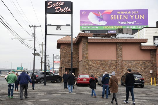 "The Sopranos Sites Tour stops at Satin Dolls, the exotic dance club made famous in ""The Sopranos"" as the Bada Bing, on Thursday, December 20, 2018."