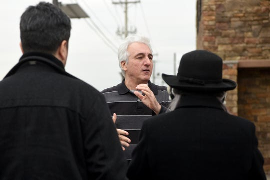 "Marc Baron, tour leader of The Sopranos Site Tour talks outside of Satin Dolls, the exotic dance club made famous in ""The Sopranos"" as the Bada Bing, on Thursday, December 20, 2018."