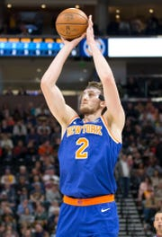 New York Knicks center Luke Kornet will miss time with a sprained left ankle.