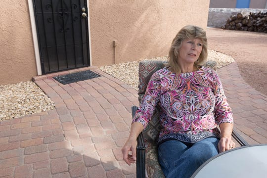 Libby Leask talks about the struggle she has had obtaining her husband's pension from New Mexico State University after he passed away in 2016. November 9, 2018.