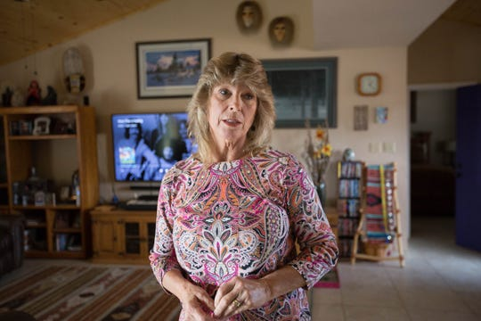 "Elizabeth ""Libby"" Leask talks about her struggle to obtain her husband's pension from New Mexico State University after he passed away. November 9, 2018."