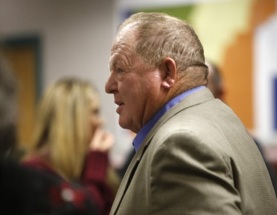 San Juan County Commissioner Michael Sullivan attends a swearing-in ceremony Monday in Aztec.