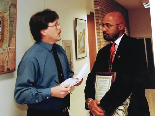 During the late 1990s while covering the Farmington city beat, Tim Smith had the chance to interview then-Detroit Mayor Dennis Archer. In those days, interviews were conducted with pad and pen -- whereas today's interviews are digitally recorded.