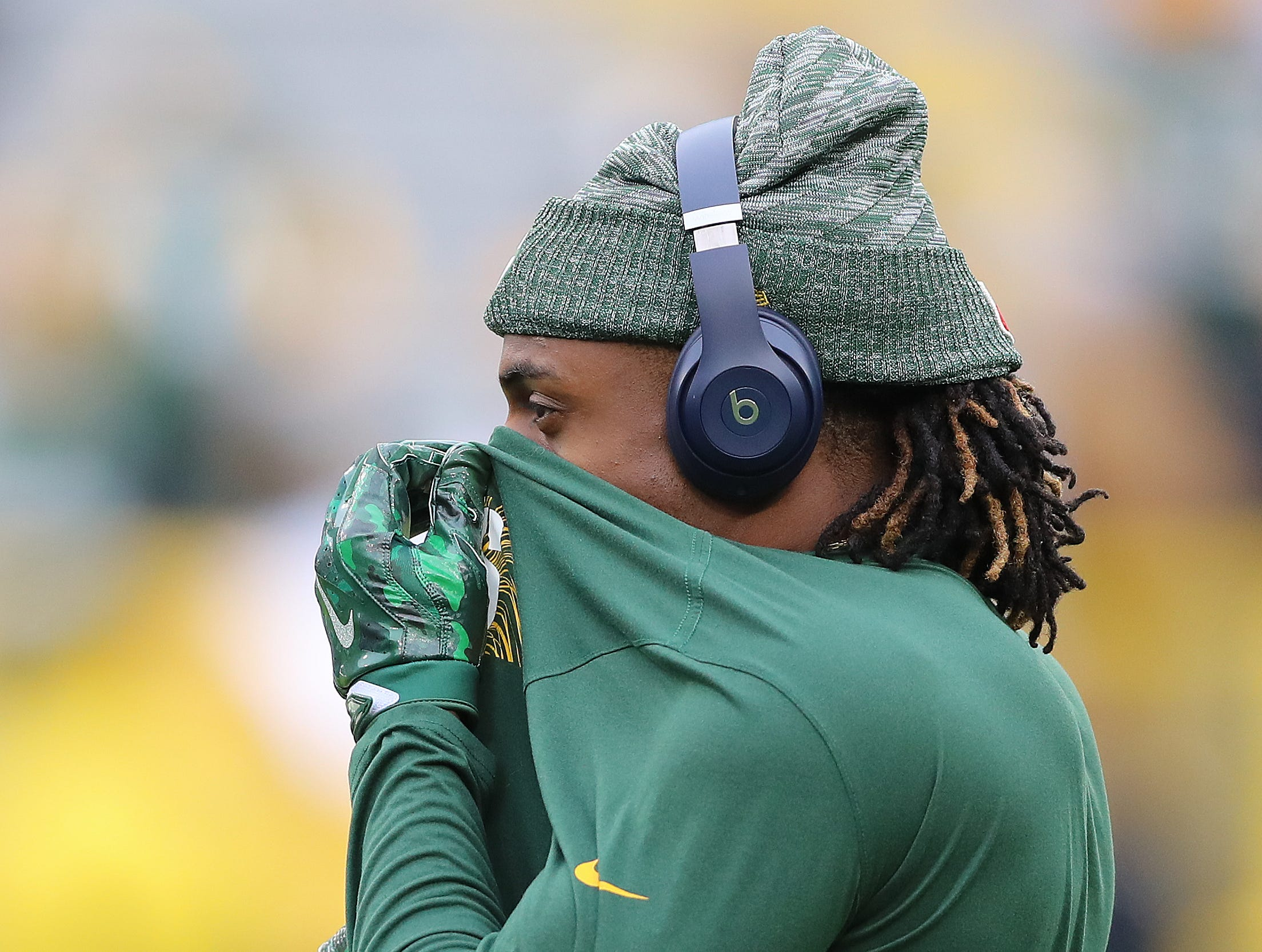 Green Bay Packers wide receiver Davante Adams (17) during warmups before the game against the Miami Dolphins at Lambeau Field Sunday, November 11, 2018 in Green Bay, Wis. Jim Matthews/USA TODAY NETWORK-Wis