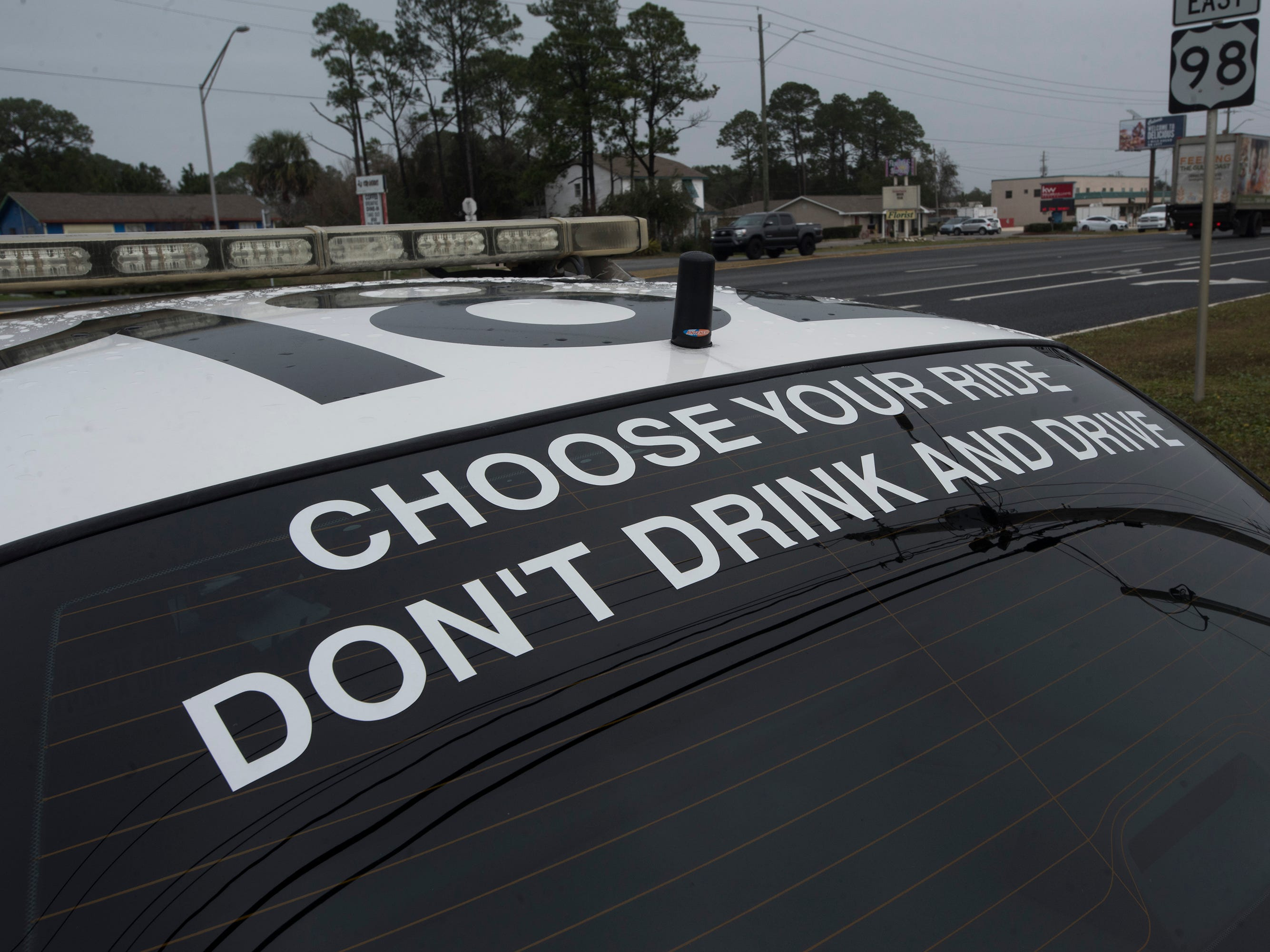 As area prepares for the New Year, the Santa Rosa Sheriff's Office has placed this reminder along the roadside on Hwy 98 of the cost of a DUI on Monday, Dec. 31, 2018.