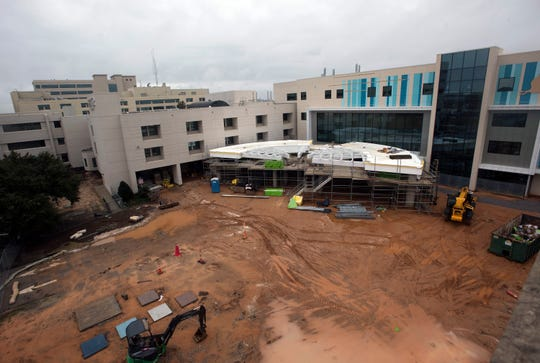"""Construction continues of The Studer Family Children""""s Hospital at Sacred Heart on Monday, Dec. 31, 2018. The hospital announced it's going to build a dog park in front of the children's hospital for long-term patients to reunite with their furry friends."""