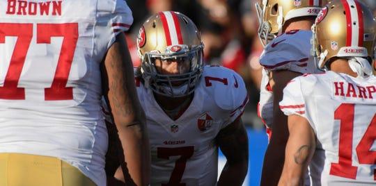 Quarterback Colin Kaepernick hasn't played an NFL snap since 2016.