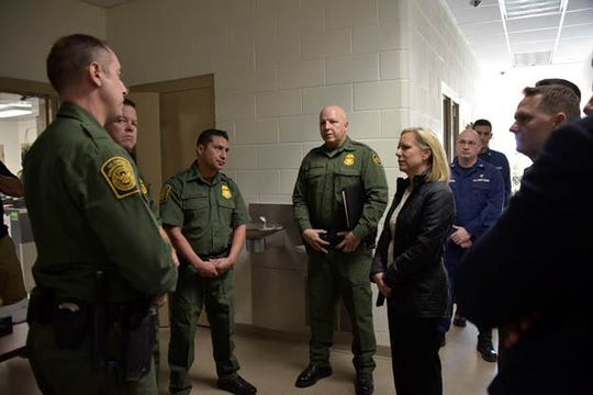 Kirstjen Nielsen, Department of Homeland Security Secretary, spent about two hours at the Yuma Border Patrol Station on Dec. 29, 2018, meeting with Border Patrol officials and Homeland Security Department medical personnel.