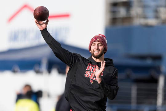 Arizona Cardinals quarterback Josh Rosen (3) was drafted in the first round of the 2018 NFL draft by Steve Keim.
