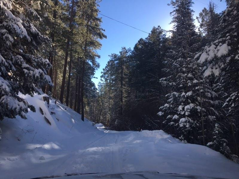 Officials said the road to Mt. Lemmon has been closed at the base.