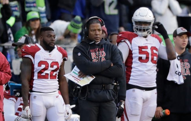 Arizona Cardinals head coach Steve Wilks works would become his final game as the team's head coach in Seattle in Seattle on Dec. 30, 2018.