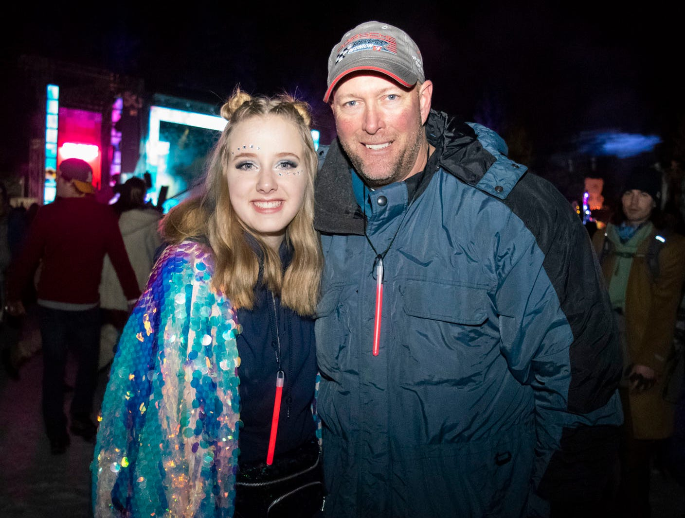 Raelin and Ron Wilson attend the Snowglobe Music Festival on Saturday, Dec. 29, 2018. South Lake Tahoe, Calif.