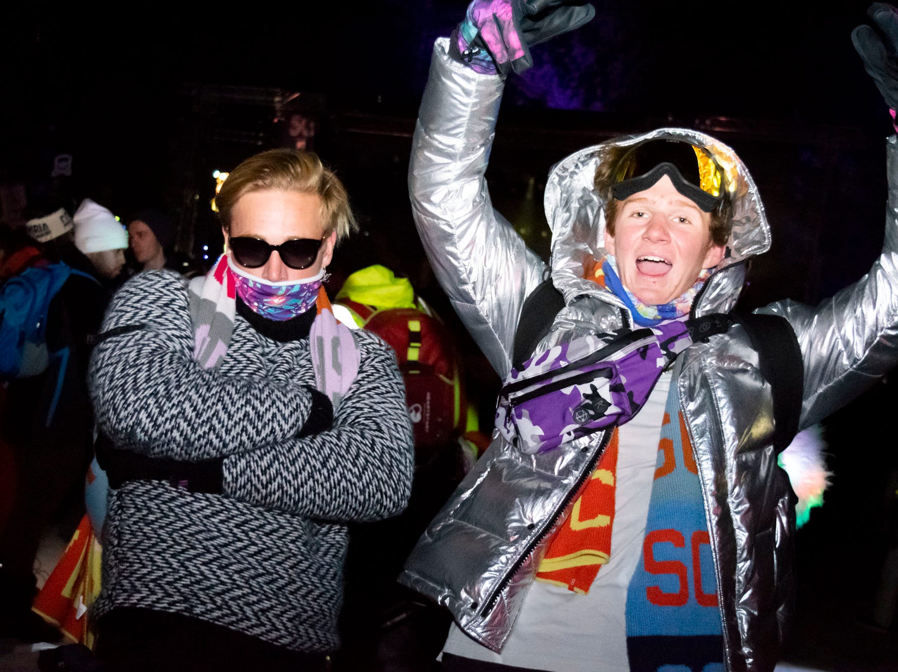 Cam and Christian Twellman attend the Snowglobe Music Festival on Saturday, Dec. 29, 2018. South Lake Tahoe, Calif.