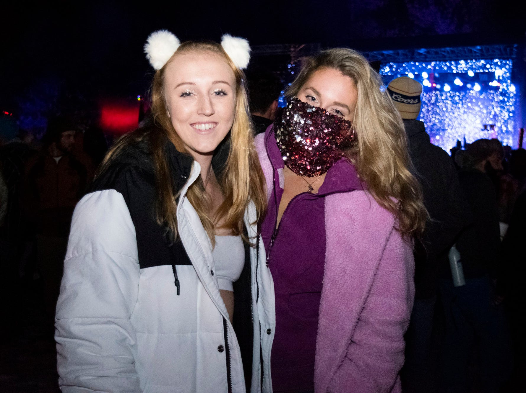 Sarah Smith and Sophie Spybrook attend the Snowglobe Music Festival on Saturday, Dec. 29, 2018. South Lake Tahoe, Calif.