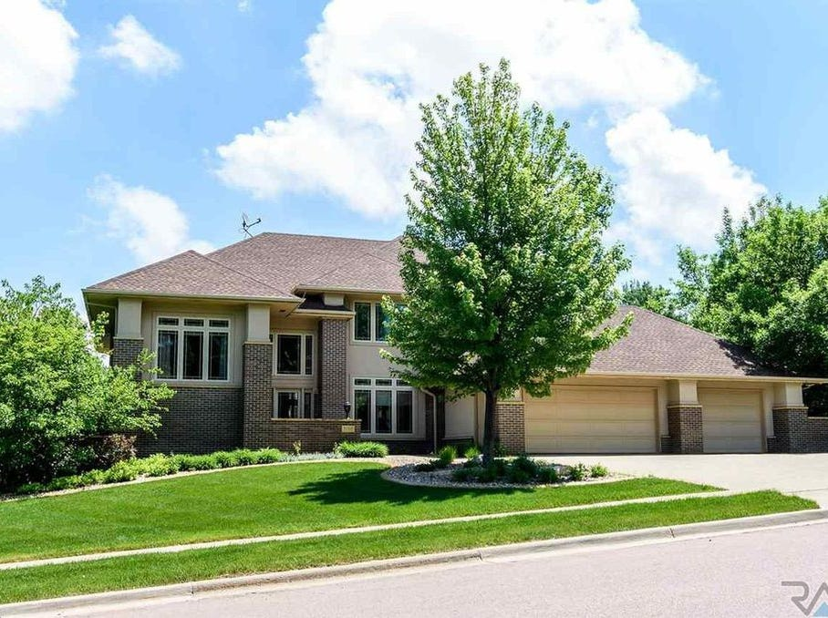 "This 5,752-square-foot home, dubbed ""Blue-Water Villa"" is located in at 3110 S. St. Francis Lane southeast Sioux Falls and sold for $829,000, topping our home sales list for the week ending Nov. 2."
