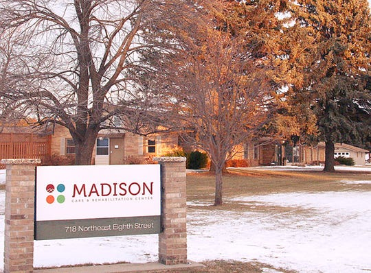 The Madison Care and Rehabilitation Center in Madison, S.D., is one of two slated for closure due to financial hardship. It is part of a group of 19 long-term care facilities under management of a state-approved financial receiver.