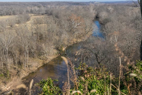 The view of the James changes throughout the year. Kevin says he particularly enjoys watching hawks and bald eagles swoop down on prey and the cattle across the river grazing through the fields.