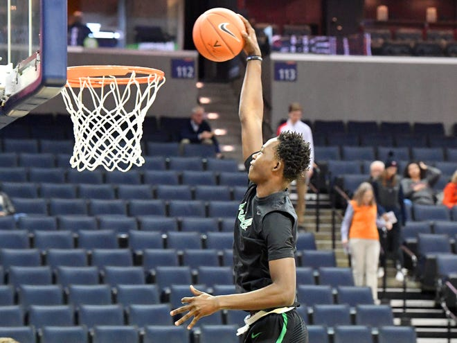 Marshall's Darius George has scored double digits in four of the Thundering Herd's last seven games.