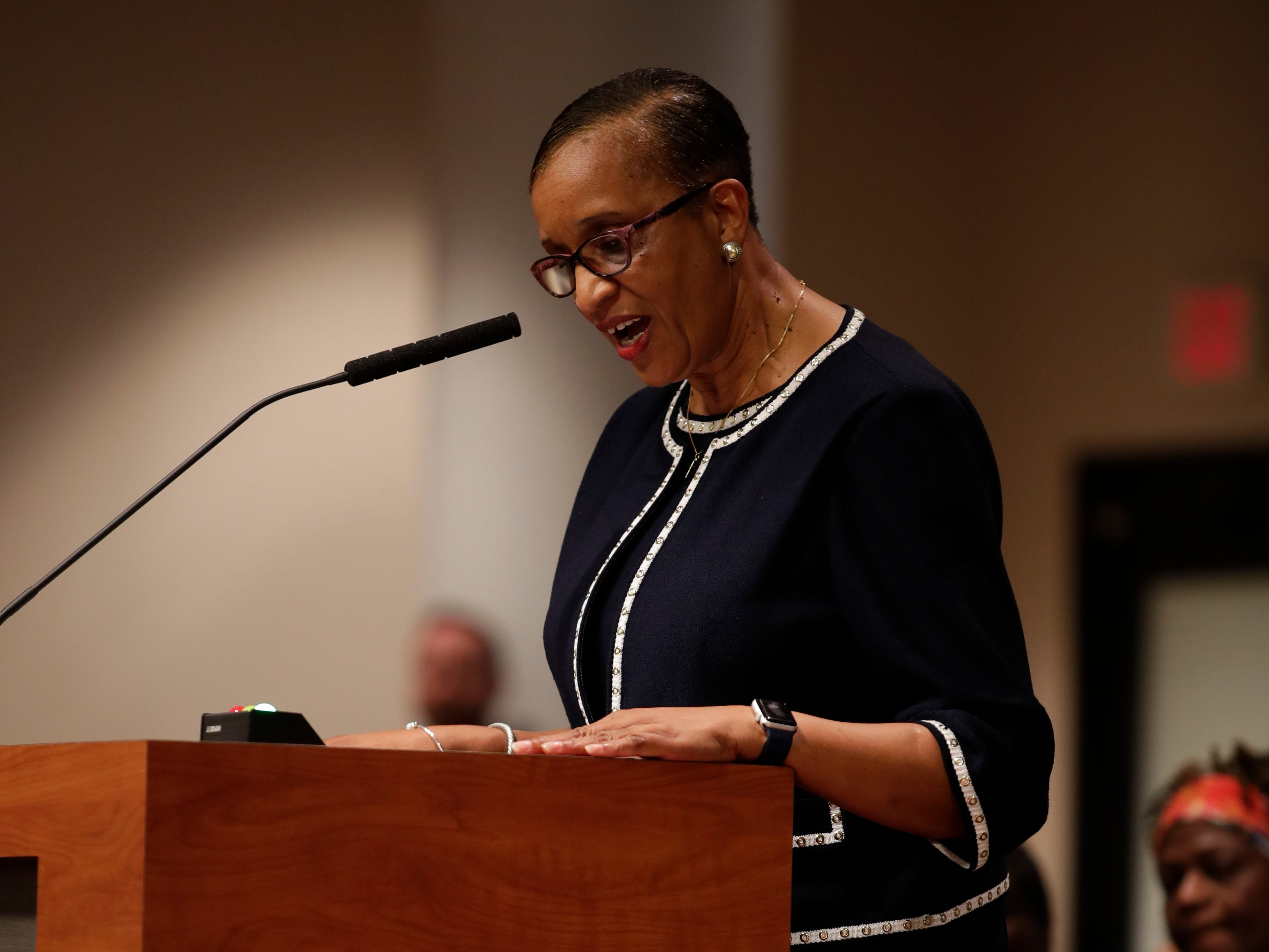 Elaine Bryant has been unanimously selected to be the new city commissioner during the City Commission meeting, Monday, Dec. 31, 2018, to replace Scott Maddox.